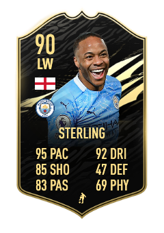fifa 21 sterling totw in form 90 ovr