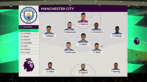 Man City predicted lineup vs Man United FIFA 20
