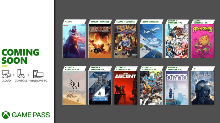 Xbox Game Pass July 2021