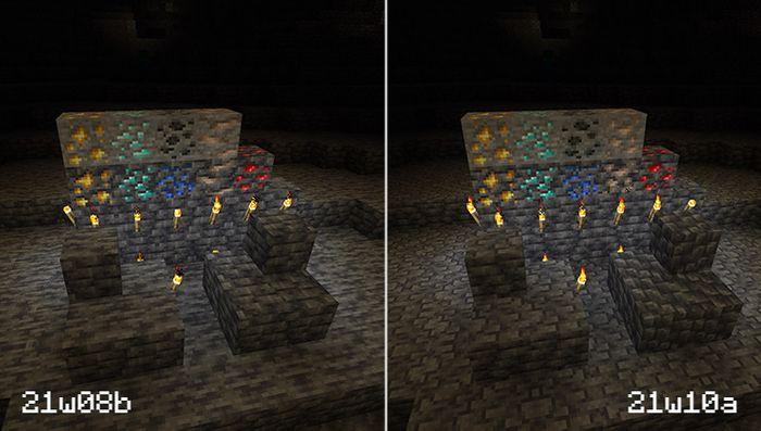 Minecraft 1.17 Snapshot Caves and Cliffs Deepslate Ore Update