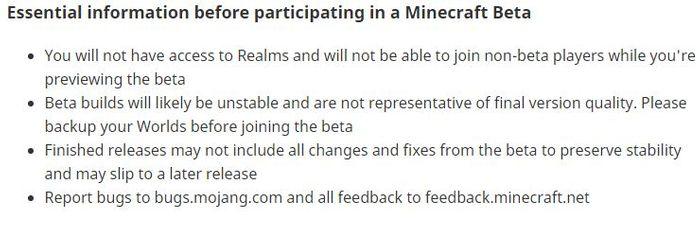 Minecraft 1 17 beta essential information