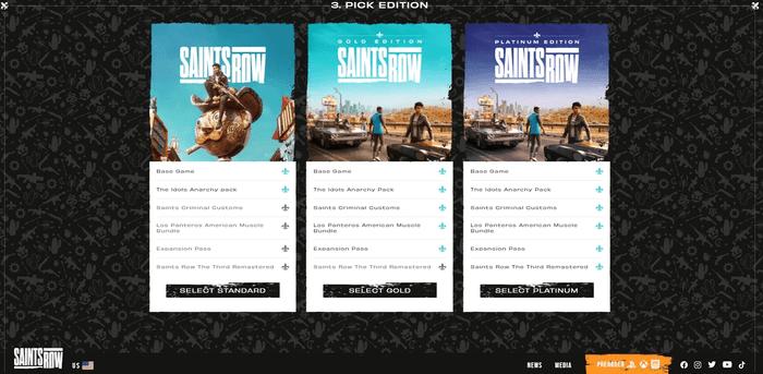 Saints Row digital edition pre-orders