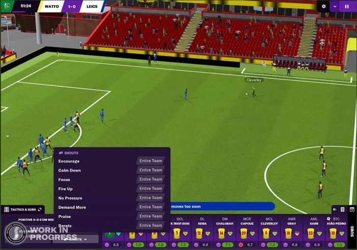 Gameplay images from FM 22