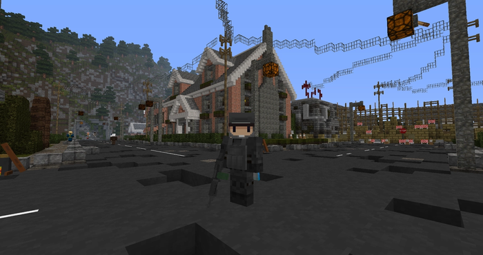 Minecraft The Crafting Dead. Player in world.