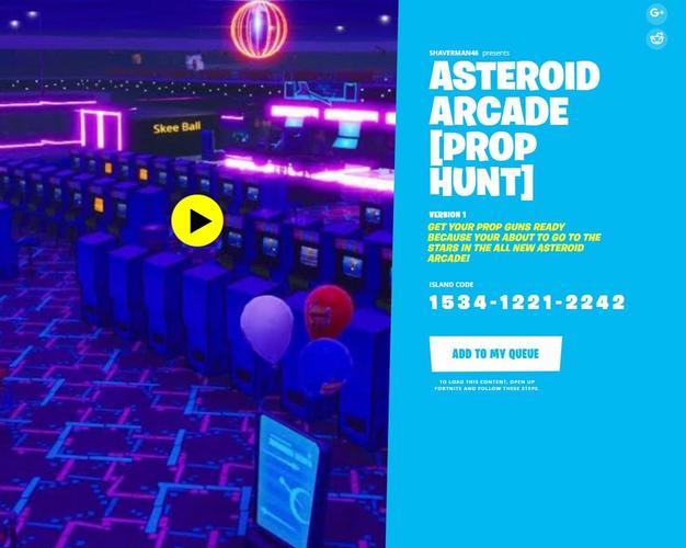 asteroid arcade code prop hunt season 4
