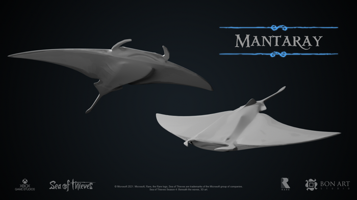Image of a Manta Ray that was leak for Sea of Thieves Season 4