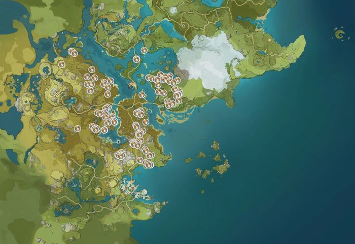 Genshin Impact Mushroom Map Locations