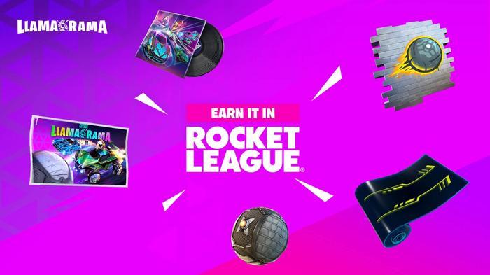 Fortnite Rocket League Llama Rama rewards