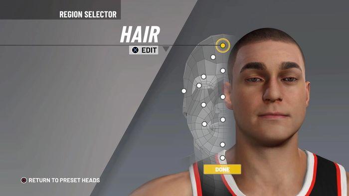 NBA 2K21 demo MyPLAYER creation 1