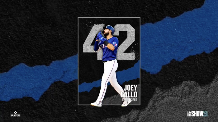 MLB The Show 21 Team Affinity Season 1 42 Series Joey Gallo Texas Rangers
