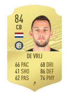 FIFA 20 De Vrij base card