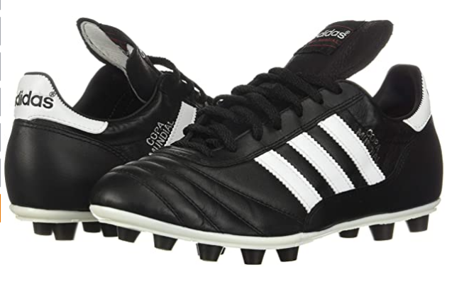 Best football boots adidas product image of two black boots with white adidas accents
