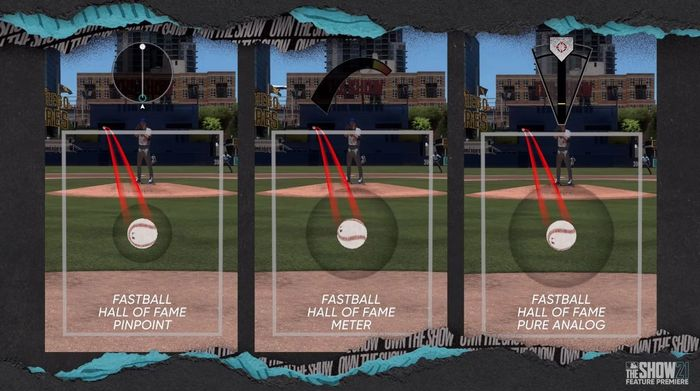 MLB The Show 21 pitching styles Pinpoint Meter Pure Analog