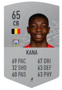 marco kana fut base card fifa 20