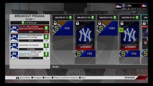 MLB The Show 20 Diamond Dynasty Jorge Posada missions and rewards