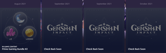 Prime Gaming Genshin Impact Rewards
