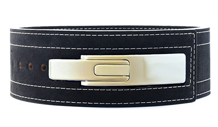 Best Weightlifting Belt Inzer, product image of a weightlifting belt, with metallic clasp