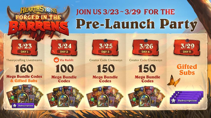 Hearthstone Pre-Launch Party Event Dates Rewards