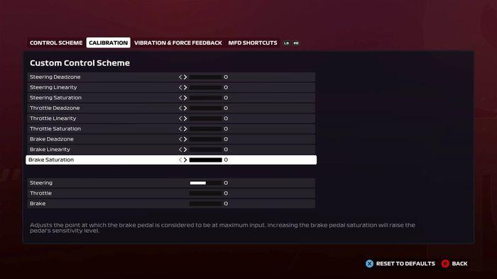 F1 2020 Brake config settings