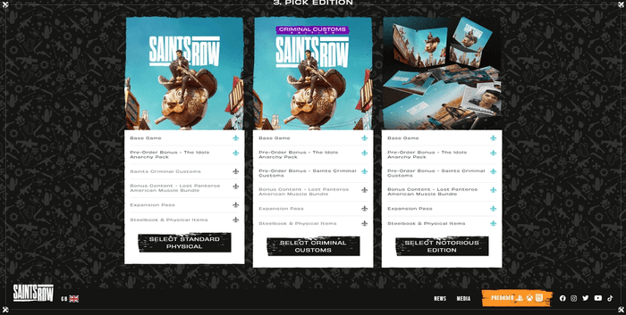 Saints Row edition pre-order