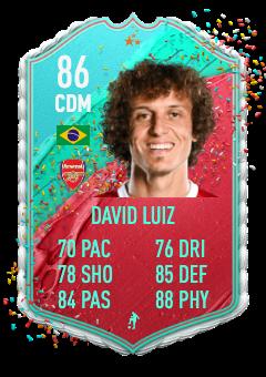 fifa 21 david luiz fut birthday prediction 86 rated