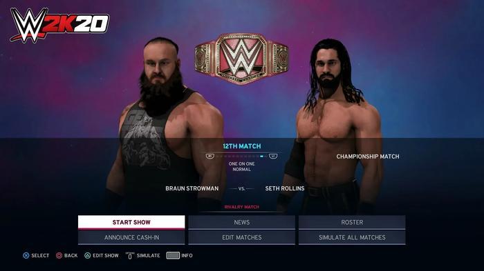WWE 2K20 screenshot from Universe Mode