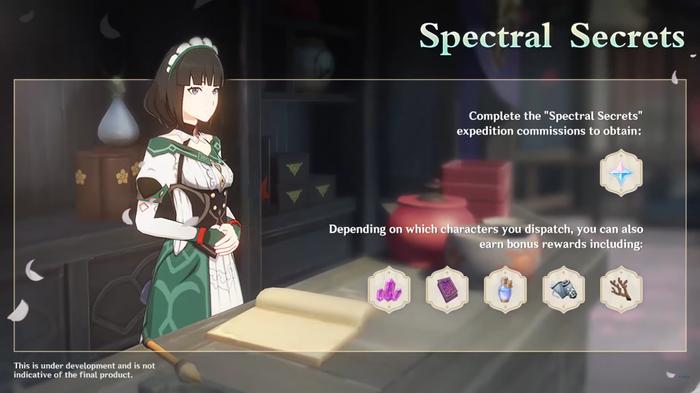 Katheryne for Spectral Secrets event on Genshin Impact