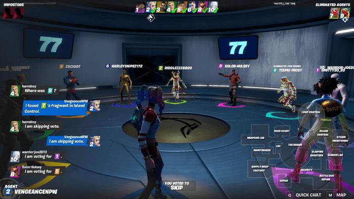 Imposter Mode Fortnite Meeting