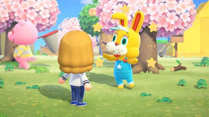 Animal Crossing 1.9 Update Easter Bunny Day Zipper