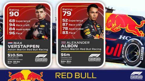 red bull driver ratings