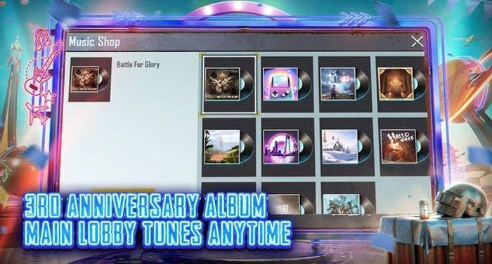 PUBG Mobile 1.3 Update Music Player