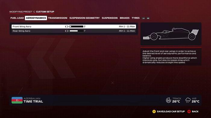 F1 2020 Baku wet wings