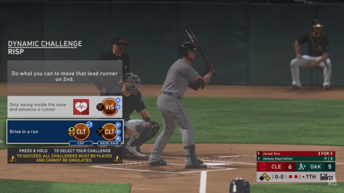 MLB 20 Road To The Show RTTS dynamic challenges