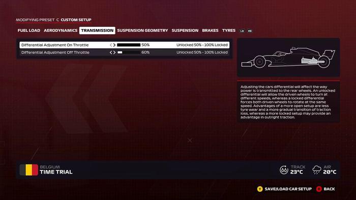 F1 2020 Belgium wet transmission