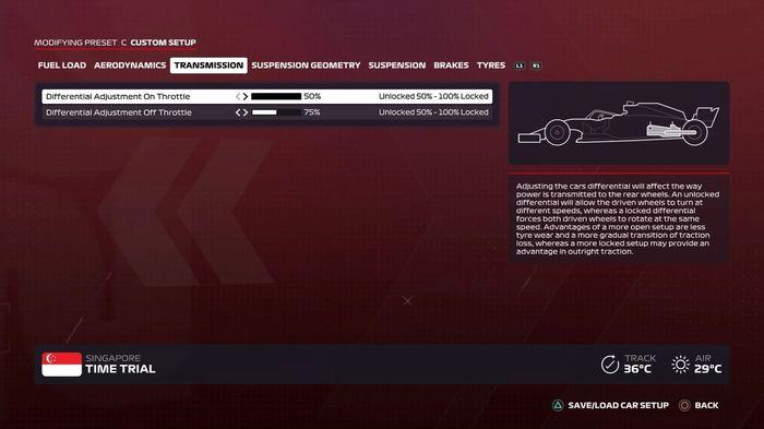 F1 2020 Singapore GP Transmission