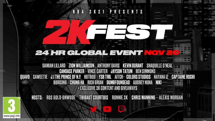 The lineup card for the 24-hour event 2KFest
