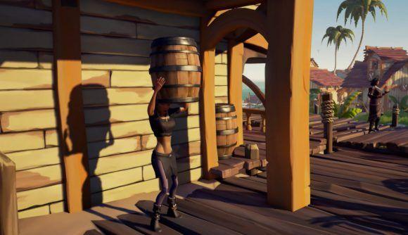 Sea of Thieves Season 2 Barrel Hiding Emote