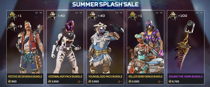Apex Legends Thrillseekers Skins Summer Splash Sale