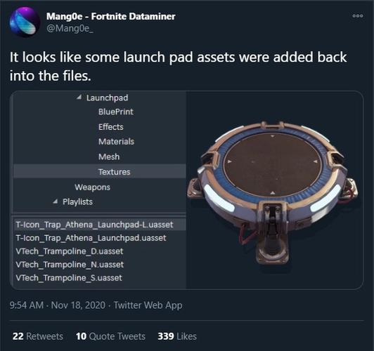 Fortnite Mang0e Launch Pad Tweet