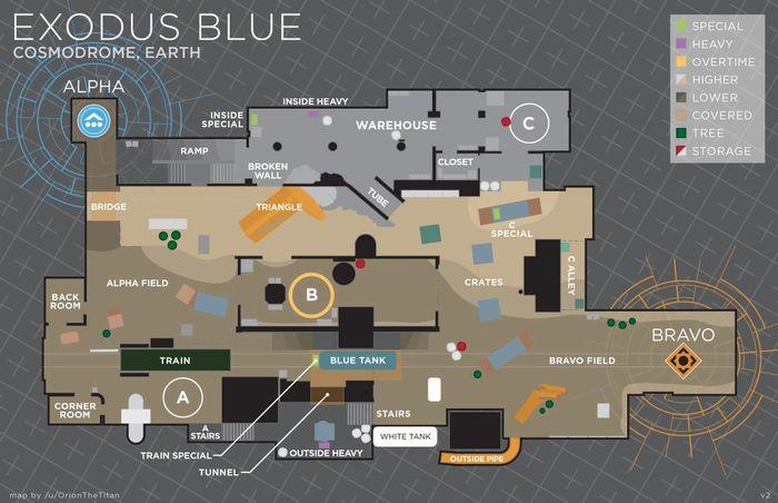 Destiny 2 Trials of Osiris Exodus Blue Callout Map