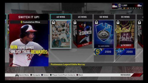 mlb the show 20 Switch It Up 2 Rewards