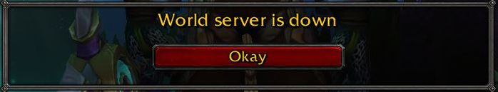 WoW Shadowlands World Server is Down