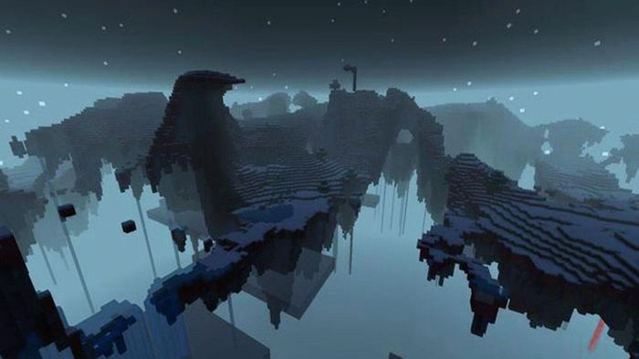 Minecraft Mystcraft. Mod biome made up of floating islands.