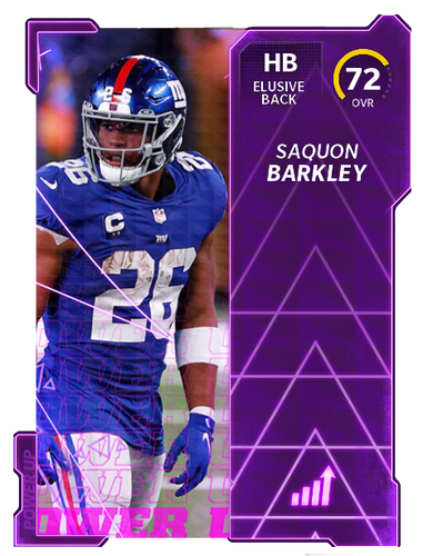 Madden 22 MUT 22 Saquon Barkley Rating Ratings Card