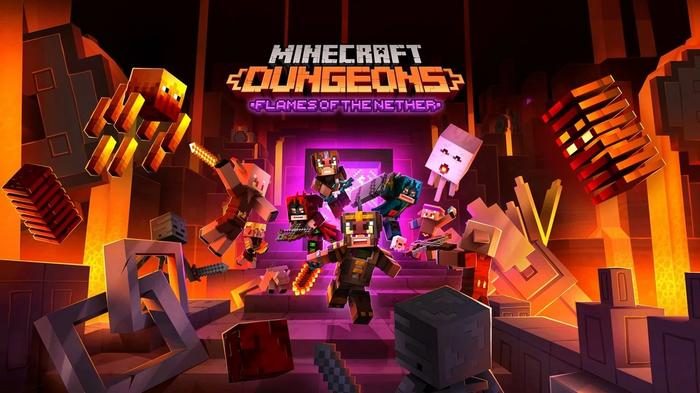 Minecraft Dungeons Flames of the Nether Key Art