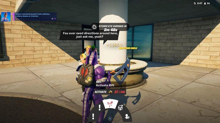 Purchase rift from NPC, fortnite, week 9 quests