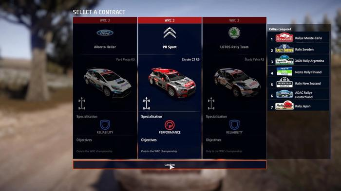 WRC 9 FIA World Rally Championship Car Selection