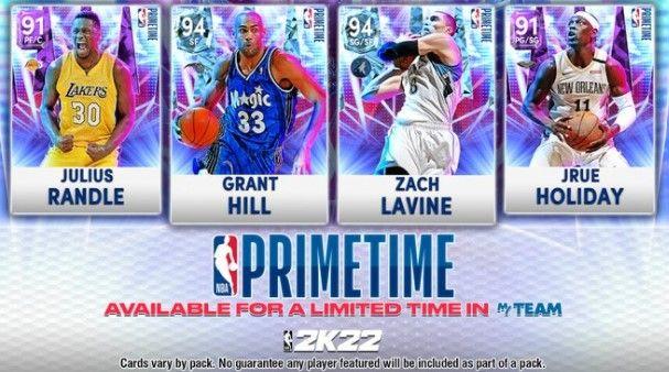 The Primetime Packs in NBA 2K22