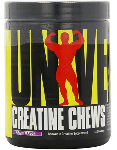 Best creatine supplement Universal Nutrition product image of a black container a red silhouette of a body builder
