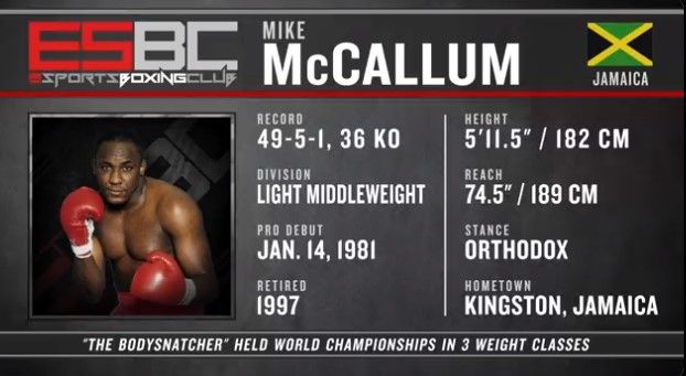 An image of Mike McCallum in eSports Boxing Club